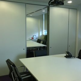 Folding Wall Installation For Commercial Offices In Portland House, London.