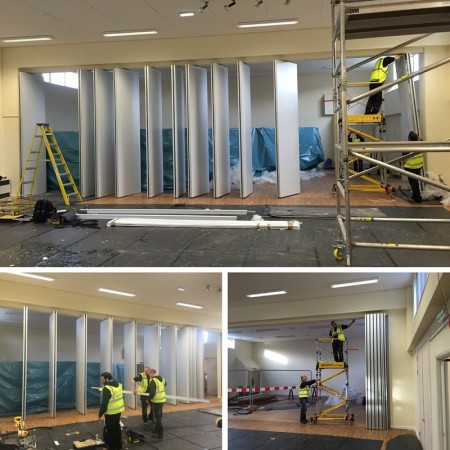 Essex Primary School, Movable Wall Panel Installation