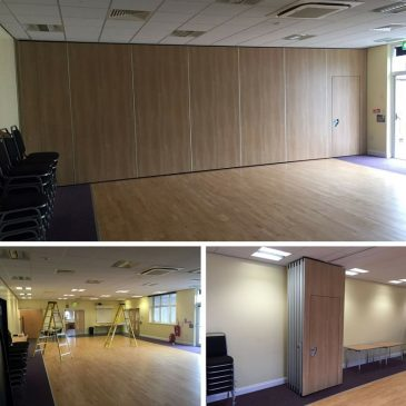 Witton Lodge Movable Wall Systems Installed