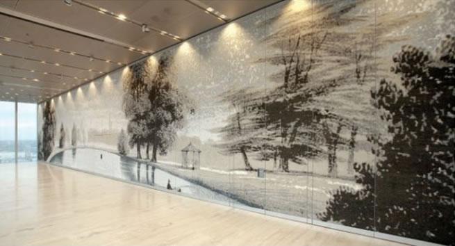 Folding walls with digital art – Custom room dividers