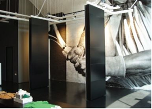 How do exhibition centres provide adaptable spaces with highest safety standards?